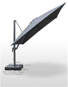 Parasol Aluminio Deluxe 3x3 m